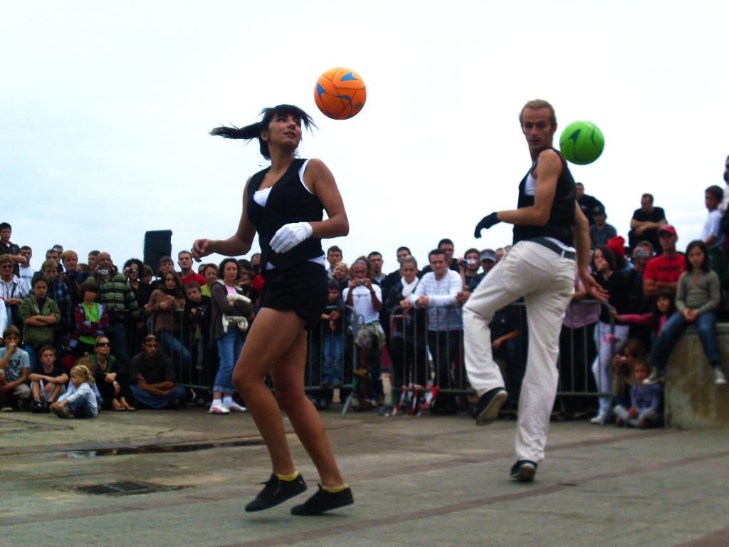 Football dance show