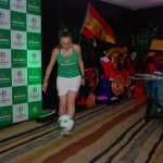 Football female entertainer for Store Launch