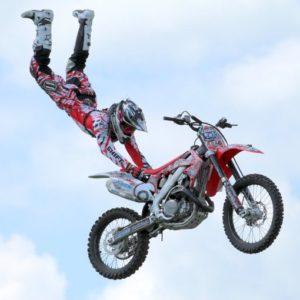 Motorbike stunts show