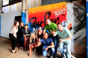 Company staff team graffiti experience