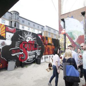 Outdoor branded graffiti
