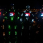 LED-Lit Parkour Team