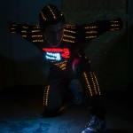 PARKOUR ENTERTAINER IN LED LIGHT OUTFIT