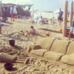 Out door sand sculpture