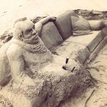 Sofa sand Sculpture