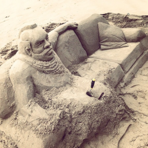 Sofa sand Sculpture