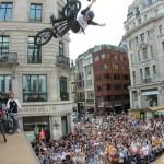 BMX Half Pipe Stunts