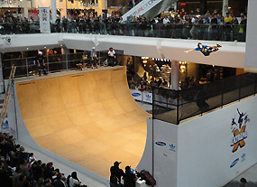 Shopping Center Half Pipe SHow