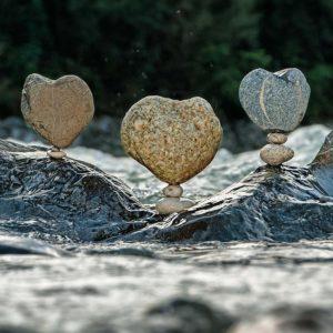 Meditation Stone balancing