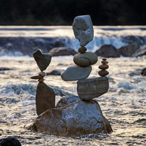 Stone Balancing Artwork
