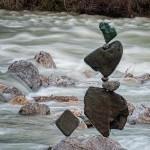 Stone balancing performer