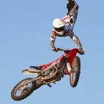 Acrobatic motorbike show