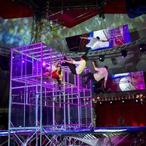 Acrobatic trampoliners