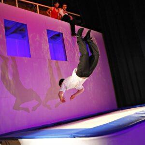 Extreme trampoline show