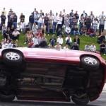 Stunt car driver show