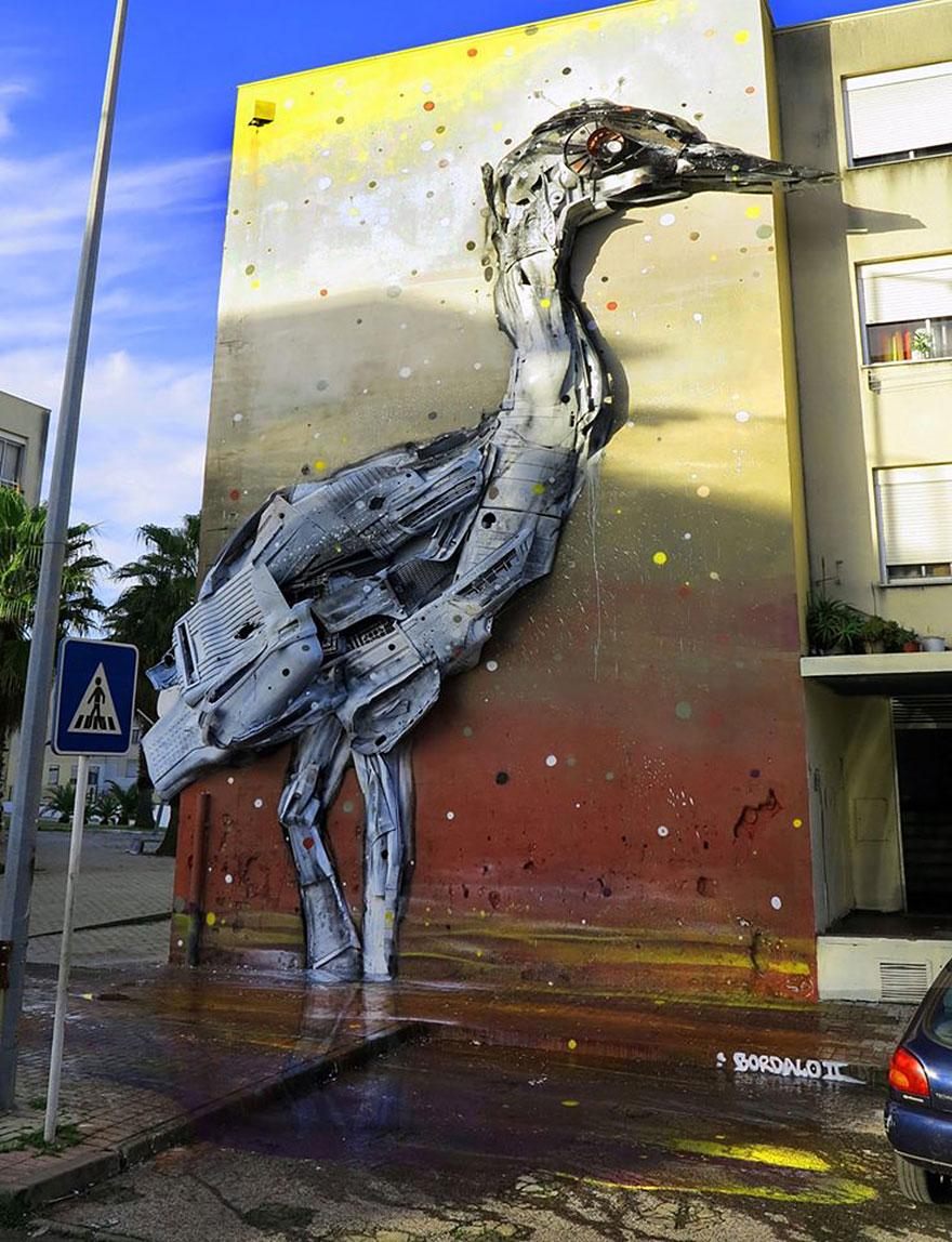 Recycling creates art