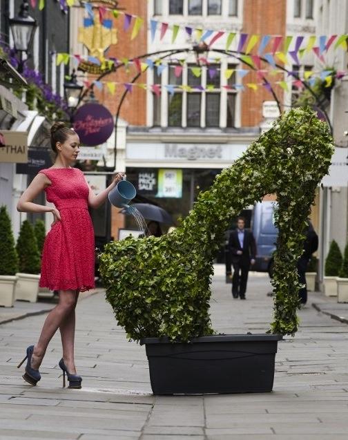 Branded plant sculptures