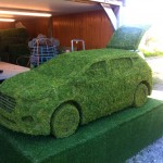Car Grass Sculpture