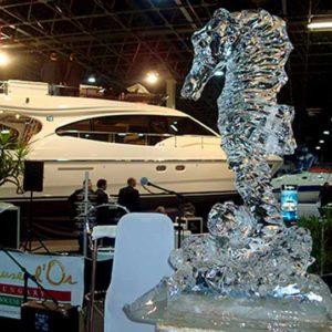 Corporate event sculpture in ice