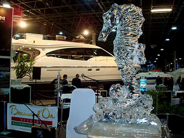 Corporate event sculpture in ice