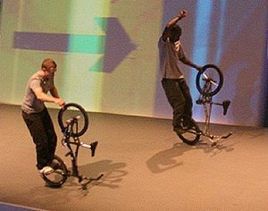 Duo BMX performers