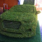 Creative green sculpting for brands events