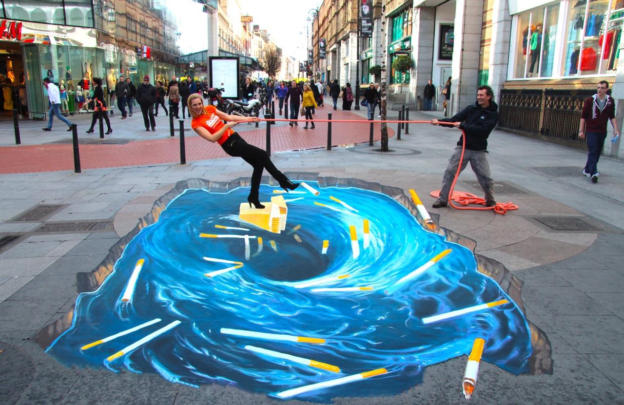 Street creative 3D artwork
