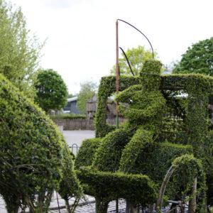 Plant sculpting artwork