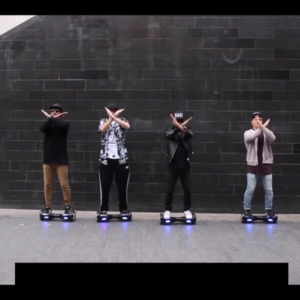 Rollerboarding automatically for dance entertainment