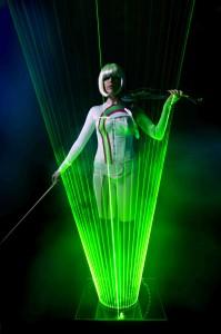 Laser light violin entertainer