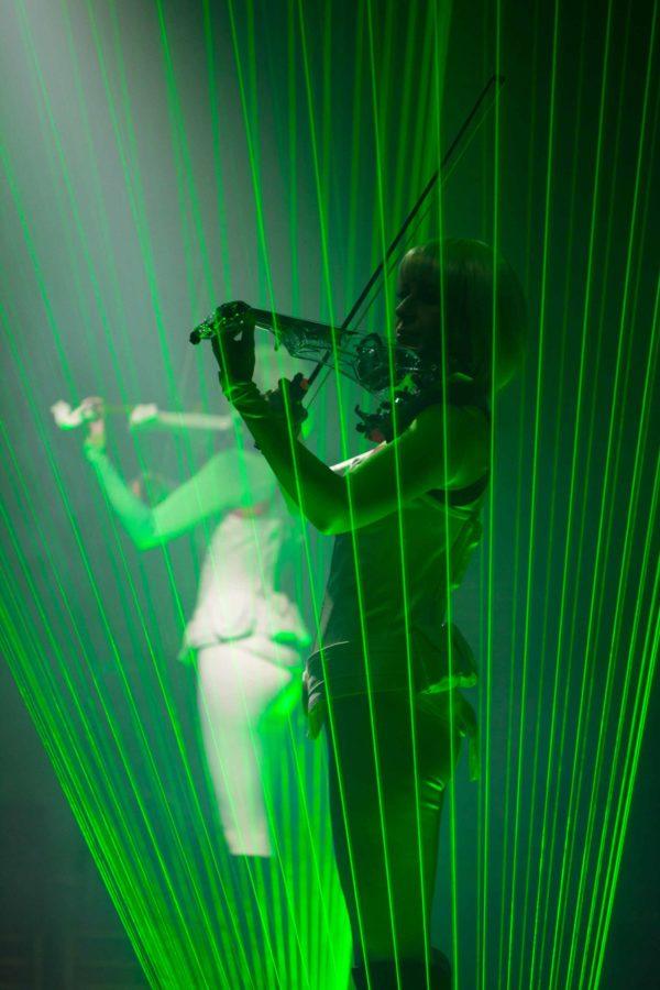 Violin laser entertainer