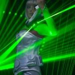 Violinist laser light entertainer
