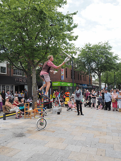 Unicycle Circus Entertainer