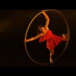 Female Cyr Wheel Performer