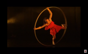 Female Cyr Wheel Performer