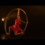 Female Wheel Acrobat