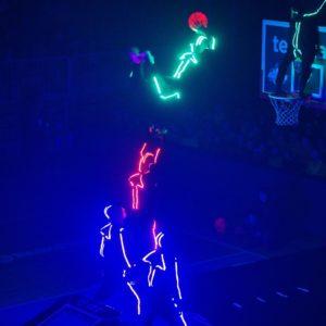 Live basketball entertainment