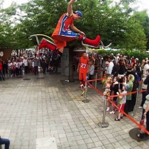 Stunt Show For Car Exhibitions