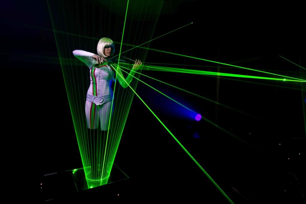 Violin Laser LED Show
