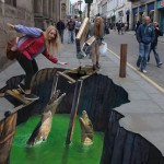 London UK 3D Street Art
