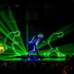 Shadow laser entertainment show]