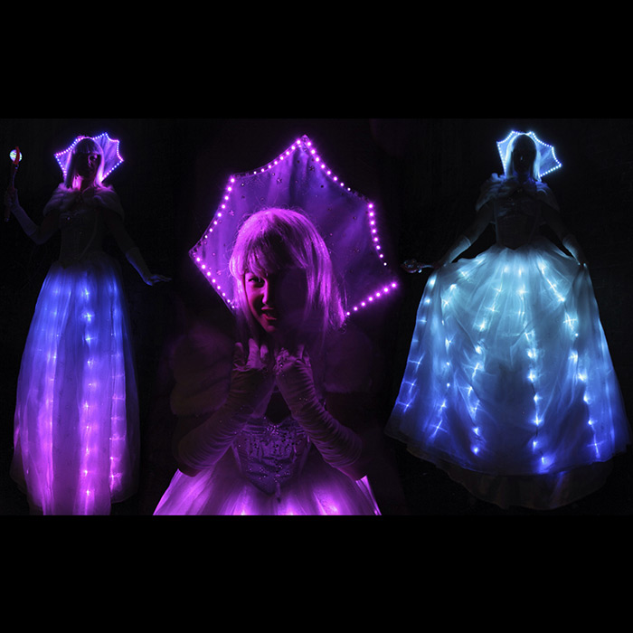 LED Lit Christmas entertainers