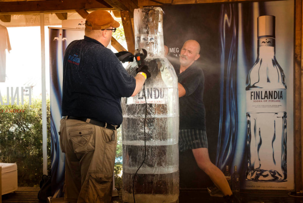 Bottle Ice Sculpture - corporate events