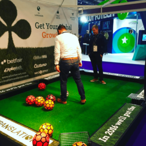 Football Pool Table Exhibition Stands