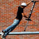 Pogo stunt performers for social media videos