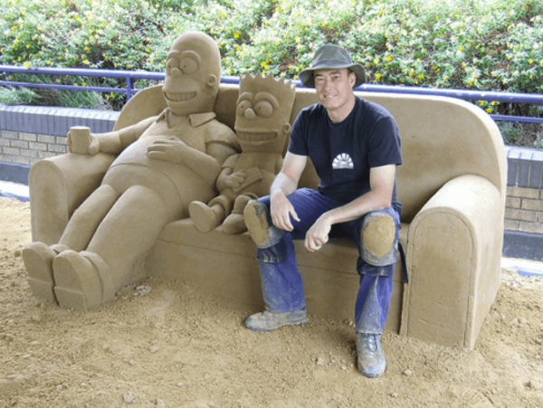 Bart Simpson Sand Sculpture