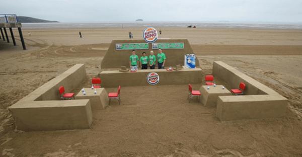 Burger King Sand Sculpture