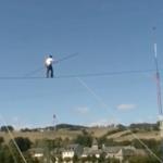 High Wire Motor Bike Stunt Show