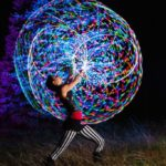LED Light Hoop Acrobats