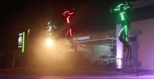 LED Light Stunt Show